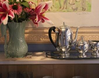 Farber Bros. Krome Kraft four piece tea/coffee service