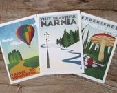 Literary Travel Poster Notecard 12-pack (3 designs)