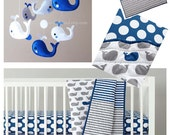 """Baby Mobile - Crib Baby Mobile - """"Happy Swimming Whales"""" mobile  - Custom Nursery Mobile (Match your bedding)"""