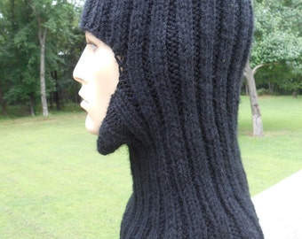 Balaclava, True Black Ski Mask,  Full Face Coverage, Winter Campers, Hikers, Outdoor Exercise, Sports, Construction, Farming
