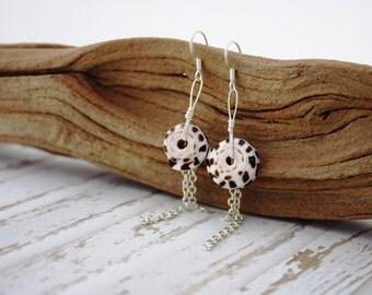 Hawaiian Jewelry Hawaii Jewelry Shell Earrings Beach Jewelry Shell Jewelry Seashell Jewelry Sea Shells Chain Earrings Seashell Earrings 058