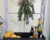 Repurposed Shelf/Bin from Vintage Window and Vintage Metal Drawer