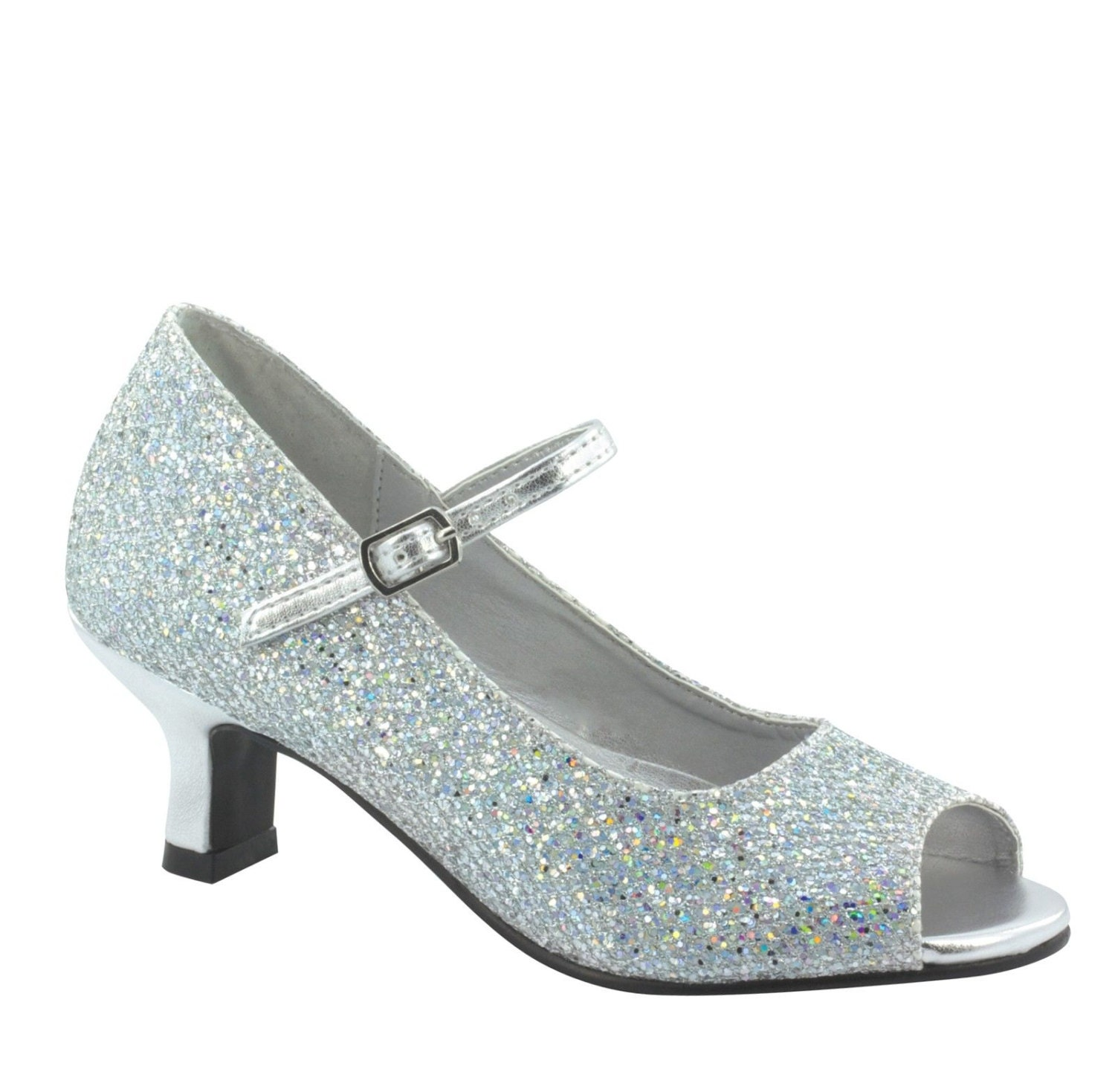 Silver Shoes 1 Inch Heel