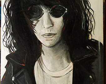 "14"" x 18"" Joey Ramone Portrait- Original Painting"