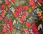 "SALE COLORFUL FLORAL Print Cotton Fabric 1 yard x 45"" wide"