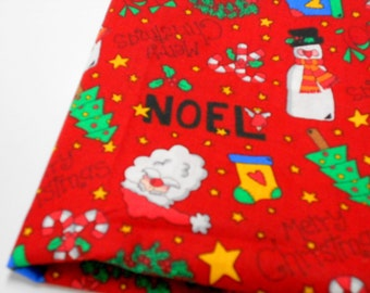 Holiday Print Fabric, Noel Santa Snowmen Design, Sewing Notions, Christmas Projects, Home Decor