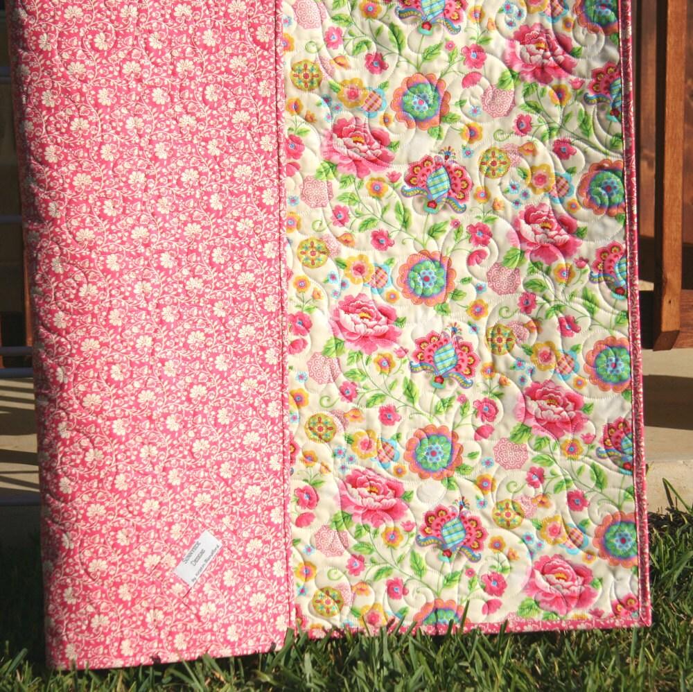 Baby Girl Quilt Gypsy Moda Fabrics Modern Bedding Nursery