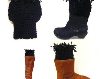 Women's Boot Cuffs, Boot Cuffs, Boot Toppers, Handmade Boot Toppers, Boot Socks, Funky Boot Cuffs, Bohemian Chic, Winter Festival