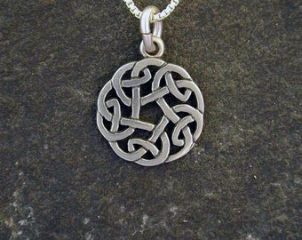 Sterling Silver Celtic Knot Pendant on a Sterling Silver Chain