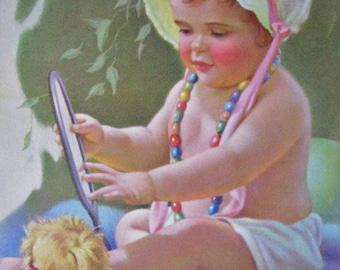 Hello Baby! Mabel Rollins Harris Calendar Art Print