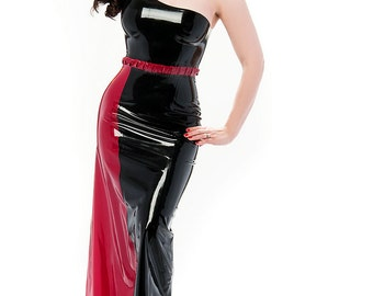 Ella avant garde latex dress