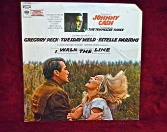 I WALKED the LINE - Original Motion Picture Soundtrack - 1970 Vintage Vinyl Record Album...Promotional Copy