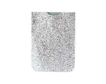 Custom Glitter Silver Sparkle Fabric iPad iPad Mini iPad Air Nexus Kindle Fire Tablet Case Cover Wallet Christmas Gift Idea
