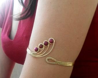 Wire Wrap Arm Bracelet Cuff