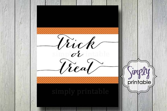 Trick or Treat Home Printable Wall Print (8x10)