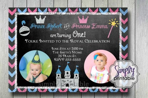 Prince & Princess Joint Invitation (Printable)