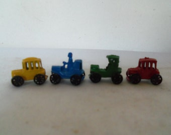 Vintage Die Cast Tiny Miniature toy Cars Tractors