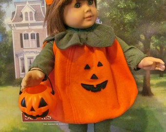 Halloween Costume,  Pumpkin Costume, Doll Costume,  18 Inch Doll Clothes