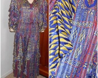 Vintage 80s Crazy Crazy Dress