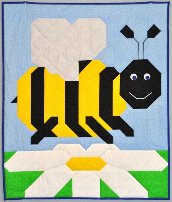 Bumble Bee Baby Quilt PATTERN : bee quilt pattern - Adamdwight.com