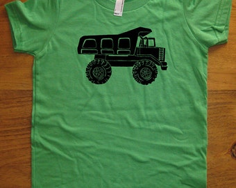 Dump Truck Shirt - Kids Shirt - Construction Big Truck Boys shirt / Girls Shirt - 8 Colors - Sizes 2T, 4T, 6, 8, 10, 12 - Gift Friendly