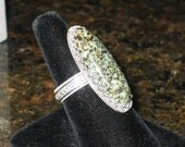 Diabase in Sterling Silver Ring, Size 10, ON SALE