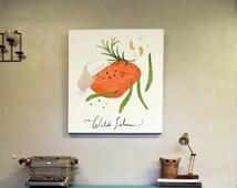 kitchen art- Wild Salmon