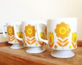 Three Floral Design Tea Cups