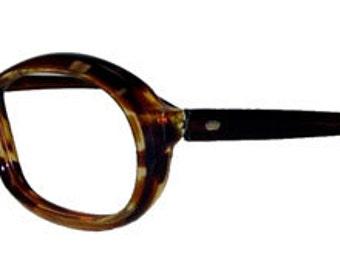Vintage 1960s Amber Eyeglass Frames Never Used