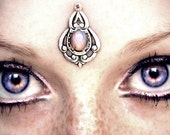 Psyche Bindi, bindi, tribal fusion bindi, bellydance bindi, third eye, opal bindi, pagan bindi, fantasy jewelry, boho bindi, festival