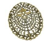 Filigree : 10 Antique Bronze Filigree Jewelry Stampings   Bronze Filigree Connector   Filigree Links - Lead, Nickel & Cadmium free 14201.B37