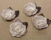 Fabric Magnolia Boutonniere  - Southern Charm Collection - Wedding Flowers - Alternative Forever Flowers