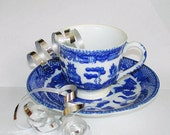 Maruta Demitasse Cup & Saucer  Willow-Blue Pattern Vintage Made in  Occupied Japan, Now Discontinued  Espresso Expresso Cappuccino