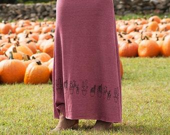 not so needy Cactus Skirt, Maxi Skirt, Fall Fashion, S,M,L
