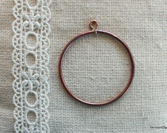 Handmade Jewelry Supplies, Circle Pendant Open Copper Hoop