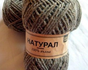 Natural wool yarn. Col. 003 DSH(H)