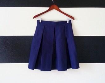 Navy Blue skirt  full, pleated skirt all sizes custom made to order