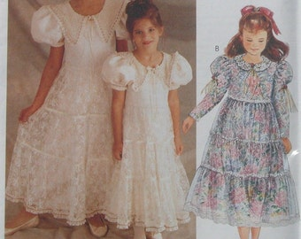 Girls Formal Party Sewing Pattern McCalls 7457 Wedding Dress Easter   Size 2 3 4 Uncut   Toddler