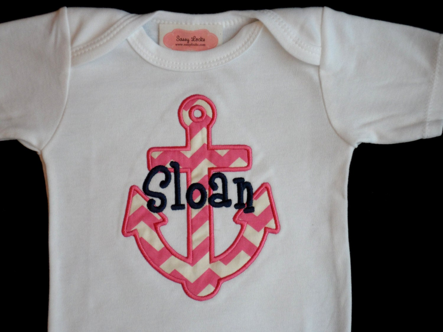 Nautical Anchor Baby Monogrammed Baby Girl Clothes