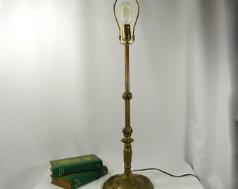 Table Lamp Deco Vintage Very Heavy Art Nouveau Newly Rewired Original Antique Patina