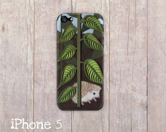 Hand Drawn hedgehog iPhone Case, iphone cover, iPhone 4 case, iPhone 4s case, iPhone 5 case, hard case, Paper Quilling, paper art print
