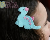 Adorable Dinosaur Hair Clip - Meet Miss Davina (Treasury Item)