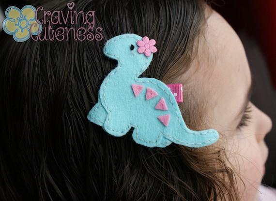 Adorable Dinosaur Hair Clip - Meet Miss Davina (Treasury Item)