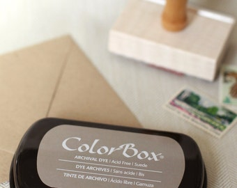 New Suede Ink - Colorbox Archival Dye Ink Pad - Suede Gray Ink Pad for rubber stamp