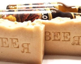 GIFT for HIM - Beer Lovers' Soap - Shea Butter Beer Soap - Great Gift for Beer Lovers - Gift Wrapped Too -Vegan
