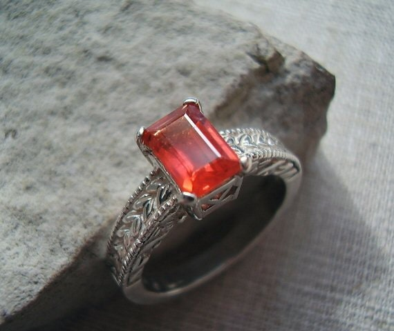 RESERVED - Lola - Genuine Red Sapphire - Alternative Engagement - Unique Wedding - Unusual Ring