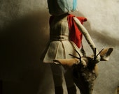 Reserved  for Claire Warren. Art Doll - Sculpture for Valeria Dalmon- Only for comission-