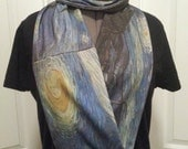 Vincent van Gogh Starry Night KNIT scarf - Infinity or regular style - made to order