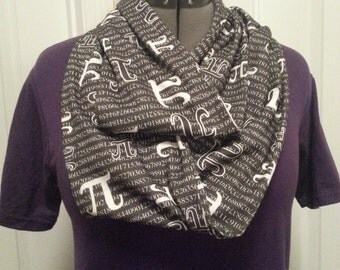 PI KNIT scarf - Infinity or Regular style - made to order
