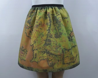 Lord of the Rings inspired skirt - map of Middle Earth (version 2) - made to order